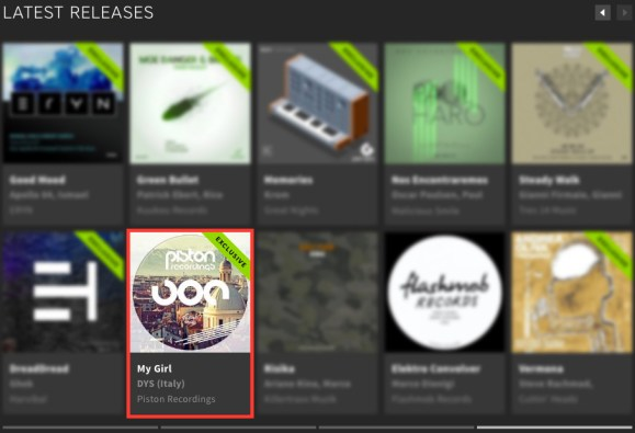 DYS (ITALY) – MY GIRL FEATURED BY BEATPORT