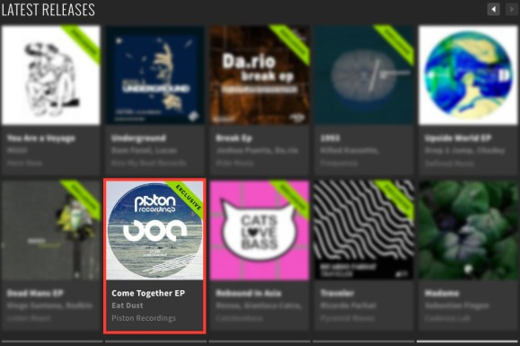 EAT DUST – COME TOGETHER EP FEATURED BY BEATPORT