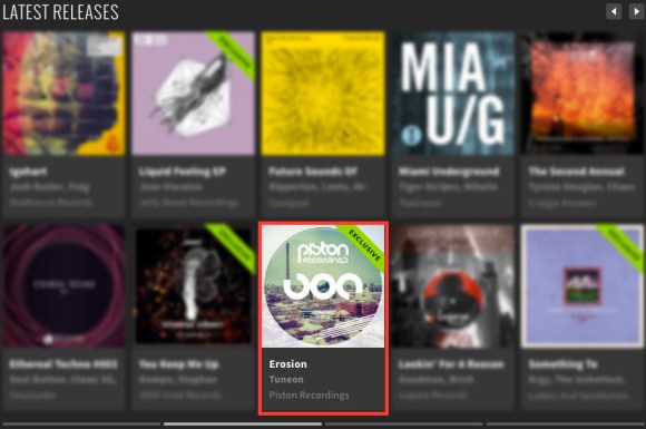 TUNEON – EROSION FEATURED BY BEATPORT