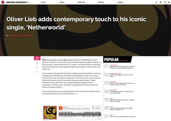 L.S.G. – NETHERWORLD REMIXES, PT.1 REVIEWED BY DANCING ASTRONAUT