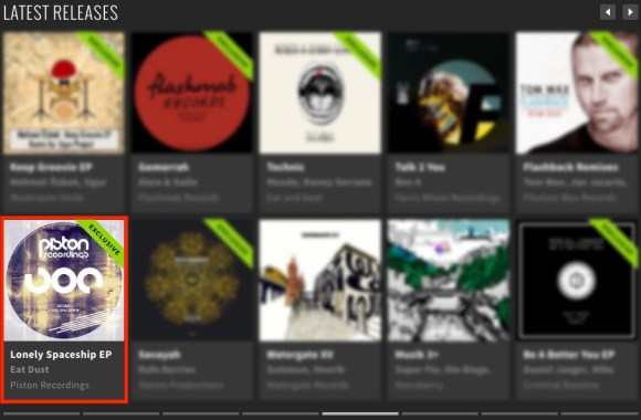 EAT DUST – LONELY SPACESHIP EP FEATURED BY BEATPORT