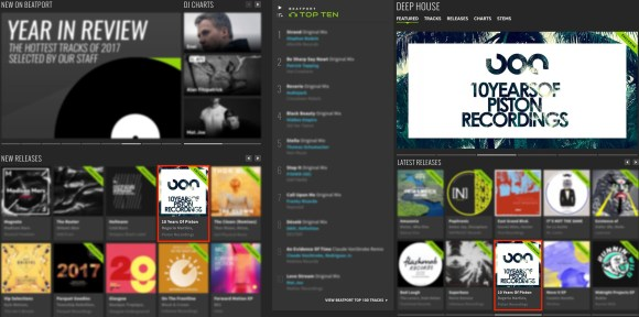 10 YEARS OF PISTON RECORDINGS FEATURED BY BEATPORT