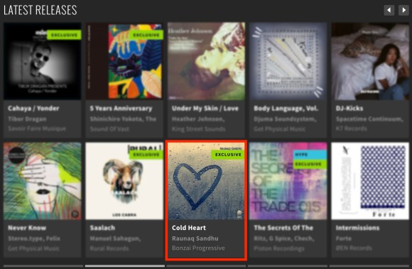 RAUNAQ SANDHU – COLD HEART FEATURED BY BEATPORT