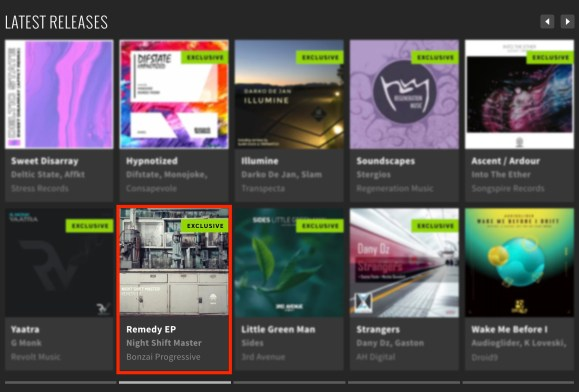 NIGHT SHIFT MASTER – REMEDY EP FEATURED BY BEATPORT