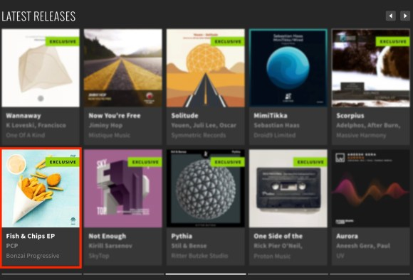 PCP – FISH & CHIPS EP FEATURED BY BEATPORT