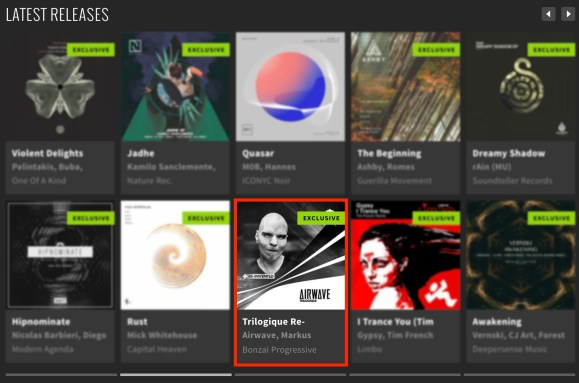 AIRWAVE – TRILOGIQUE RE-INVENTED FEATURED BY BEATPORT