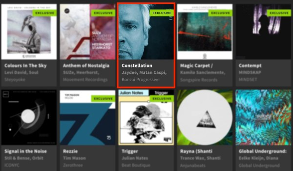 JAYDEE – CONSTELLATION FEATURED BY BEATPORT