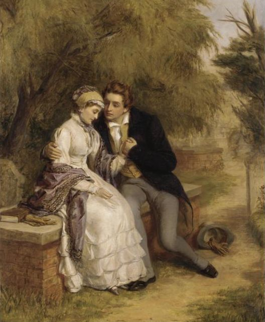 The Lovers Seat, Shelley And Mary Godwin by William Powell Frith
