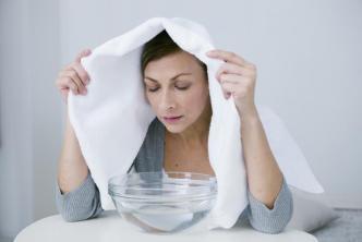 Inhalation hot water