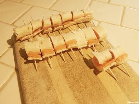 roulés au saumon fumé