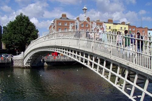 visiter Dublin en une journée Ha'Penny Bridge