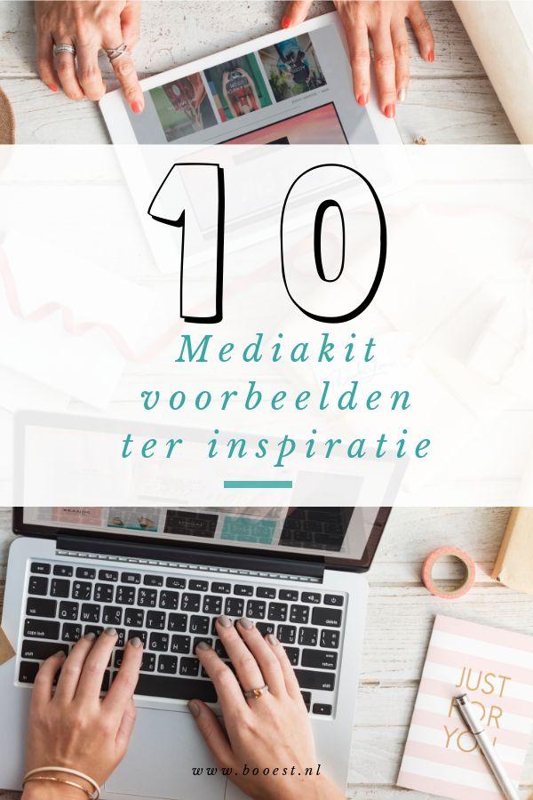 10 mediakit voorbeelden voor bloggers en ondernemers. #mediakit #blogger #entrepreneur #media