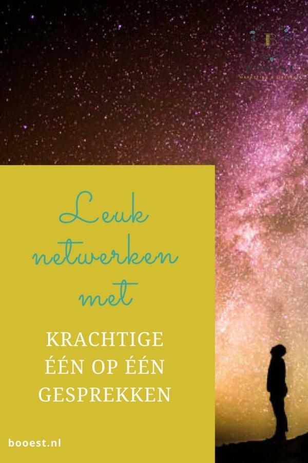 Leuk netwerken met krachtige een op een gesprekken www.booest.nl/leuk-netwerken-met-krachtige-een-op-een-gesprekken