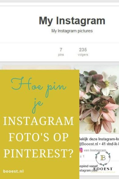 Hoe Pin je Instagram foto's op Pinterest?