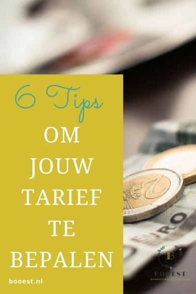 6 tips om jouw tarief te bepalen