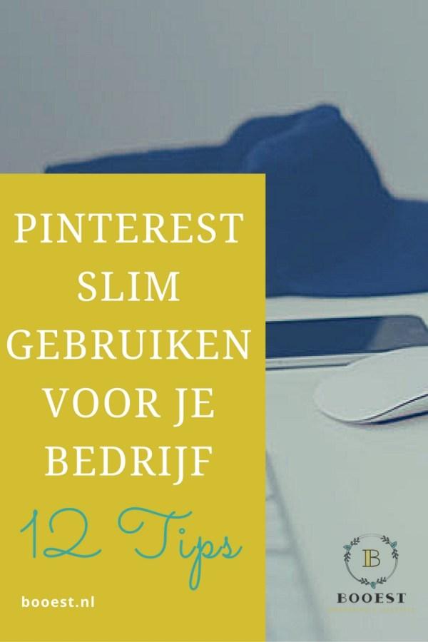 Pinterest slim gebruiken voor je bedrijf: 12 tips. Gebruik Pinterest slim voor je bedrijf. Booest geeft je 12 tips om maximaal profijt uit Pinterest te halen. Gebruik Pinterest strategisch voor meer exposure. www.booest.nl?