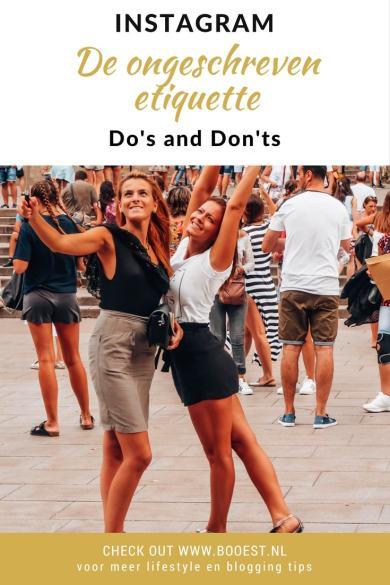 Instagram: De ongeschreven etiquette, do's en don'ts