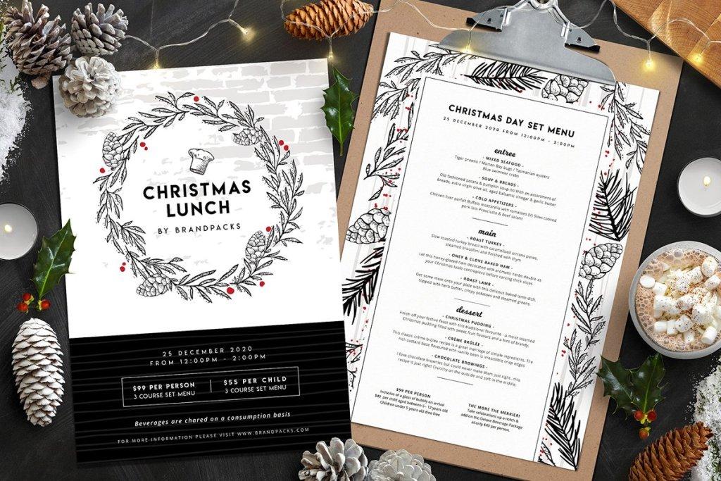 christmas menu templates www.booest.nl