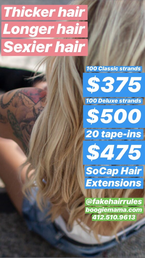 Hair Extensions Promo Sale Boogiemama