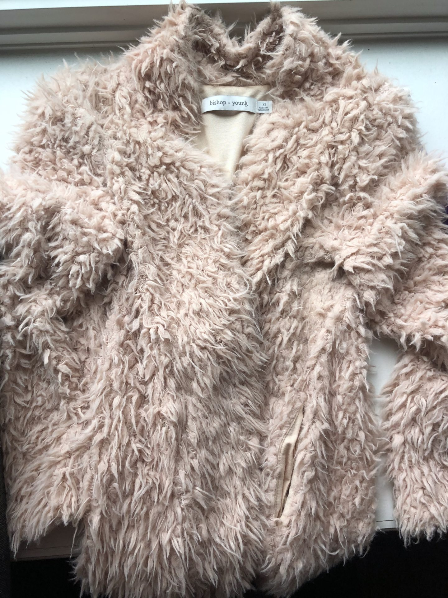 Bringing life back into my faux fur cardigan that looks like road kill
