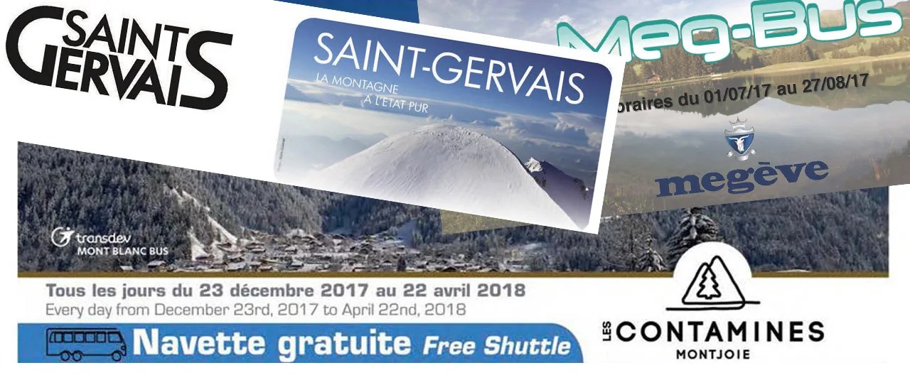 Ski Bus Timetables For Megeve St Gervais And Les Contamines