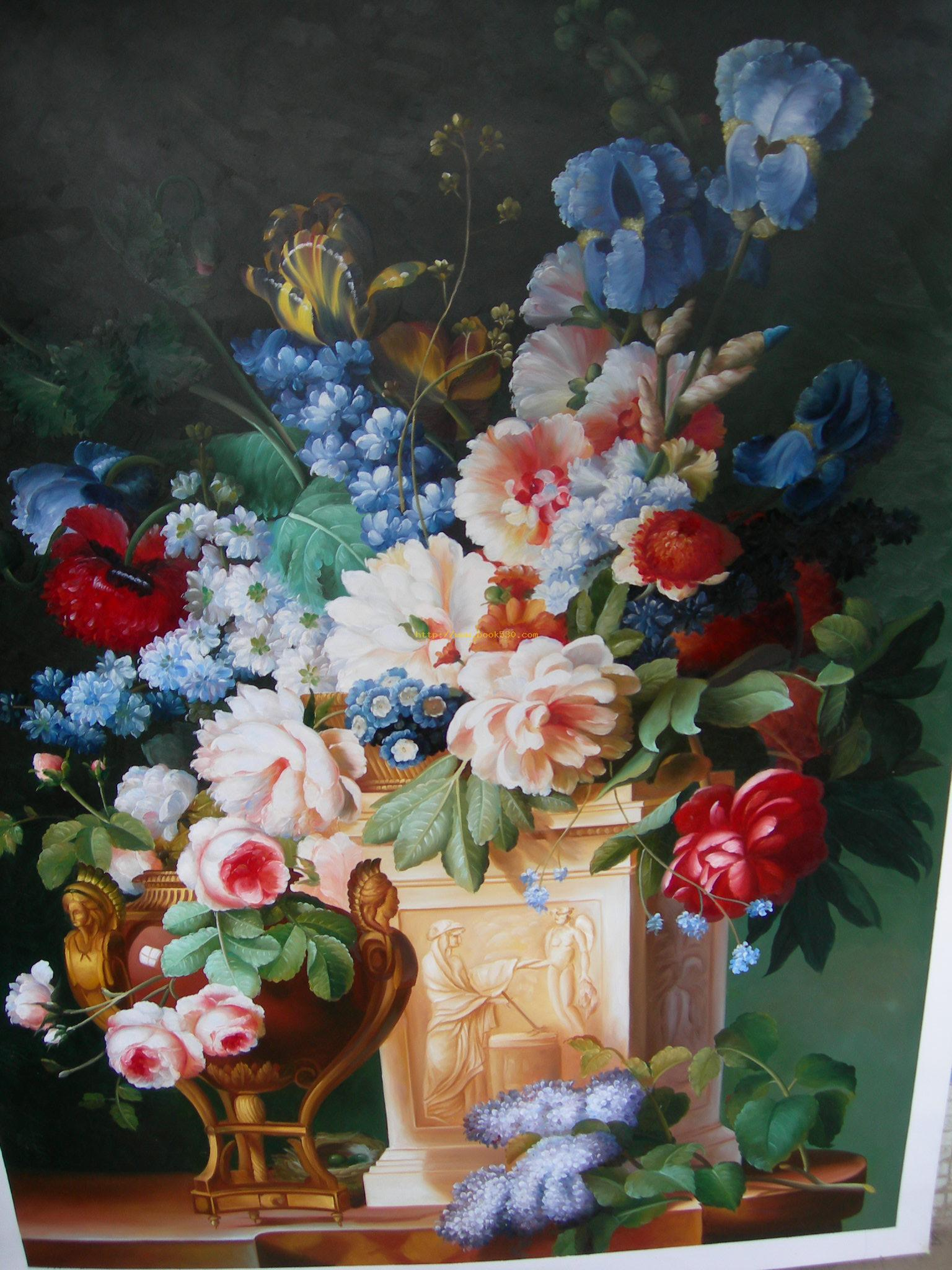 Classical Flower Oil Painting Classical Flower Oil Paintings
