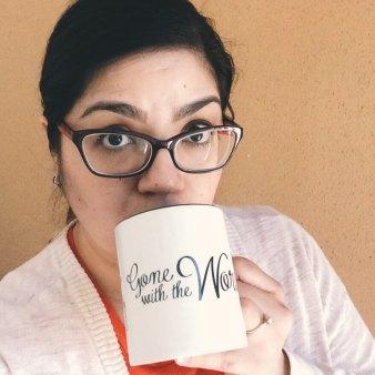 jess with mug