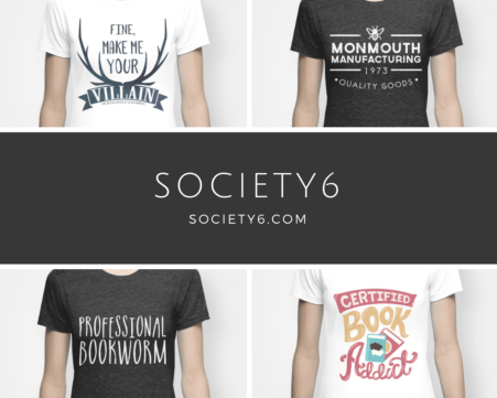 society6 shirts books fandoms