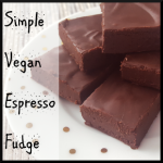 SImple Vegan Espresso Fudge