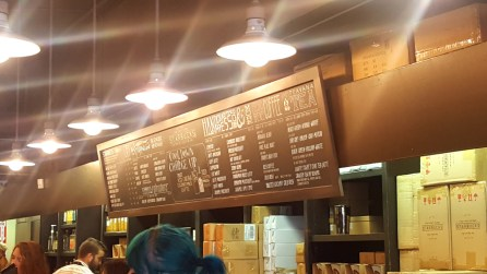 First Starbucks Menu