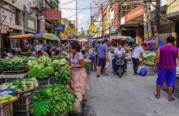 Vegetable market, Manila, Philippines