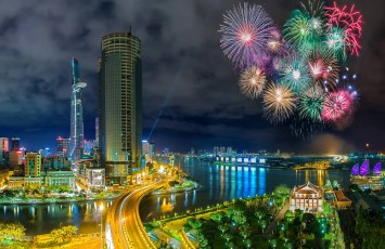 Vietnamese Independence Day fireworks, Ho Chi Minh City