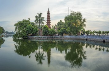 Tran Quoc Pagoda In The Afternoon In Hanoi, Vietnam