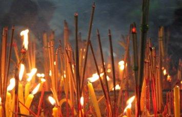 Incense on Buddhist Lent