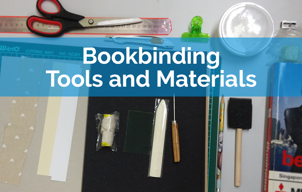 bookbinding tools and materials