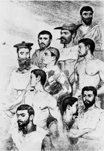 Loti's shipmates as drawn by him
