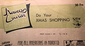 moroccan courier dec 1953 logo bookblast diary