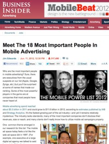 Business Insider article on the mobile ads and apps