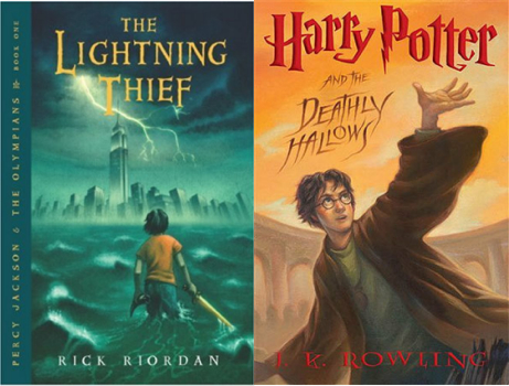 Image result for harry potter and percy jackson