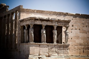 Caryatids on Acropolis Athens | Cultural Holidays | Book FHR Blog