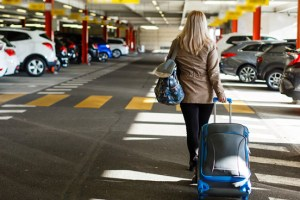 Lady Suitcase Airport Car Park | Book FHR Travel Blog