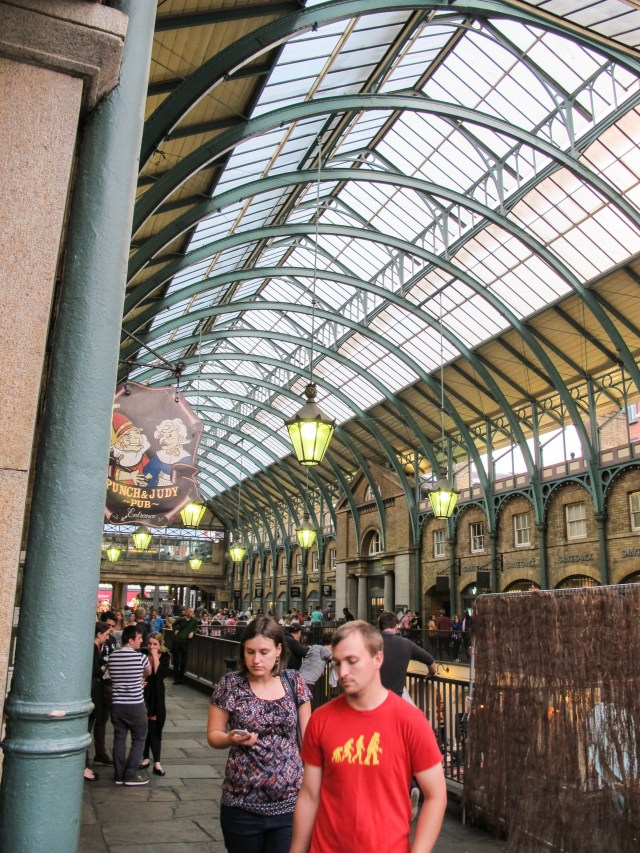 Convent Gardens arcade, with random people from crowd