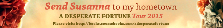 #win an exclusive online chat with A DESPERATE FORTUNE author SUSANNA KEARSLEY  @SusannaKearsley @SourcebooksCasa