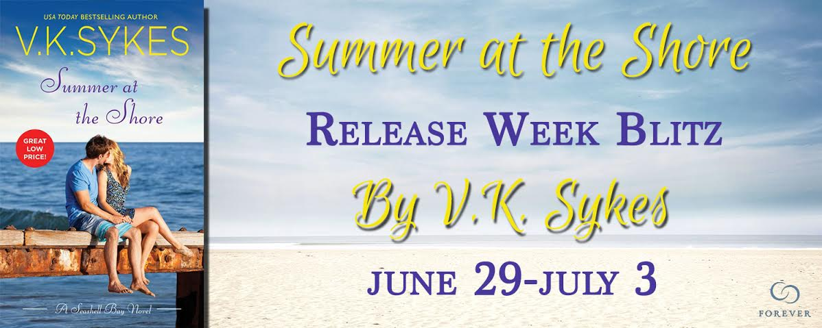 #Giveaway Excerpt SUMMER AT THE SHORE by V K Sykes @VKSykes @ForeverRomance