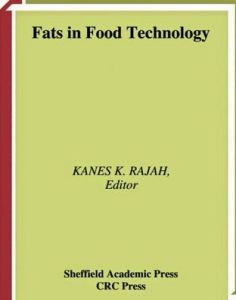 Book cover, fats in food technology