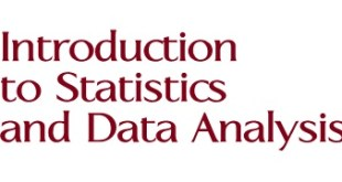 Introduction to Statistics and Data Analysis pdf.
