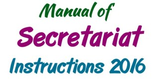 Manual of Secretariat Instructions 2016 GOP