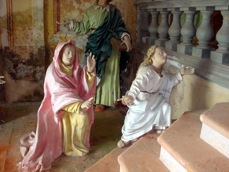 La cappella della Dimora di Maria al tempi, a Oropa