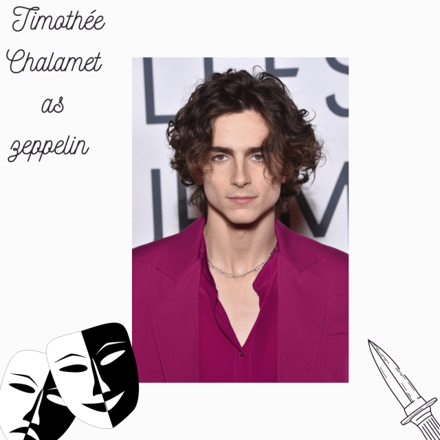 Timothée Chalamet as Zeppelin in Roman and Jewel
