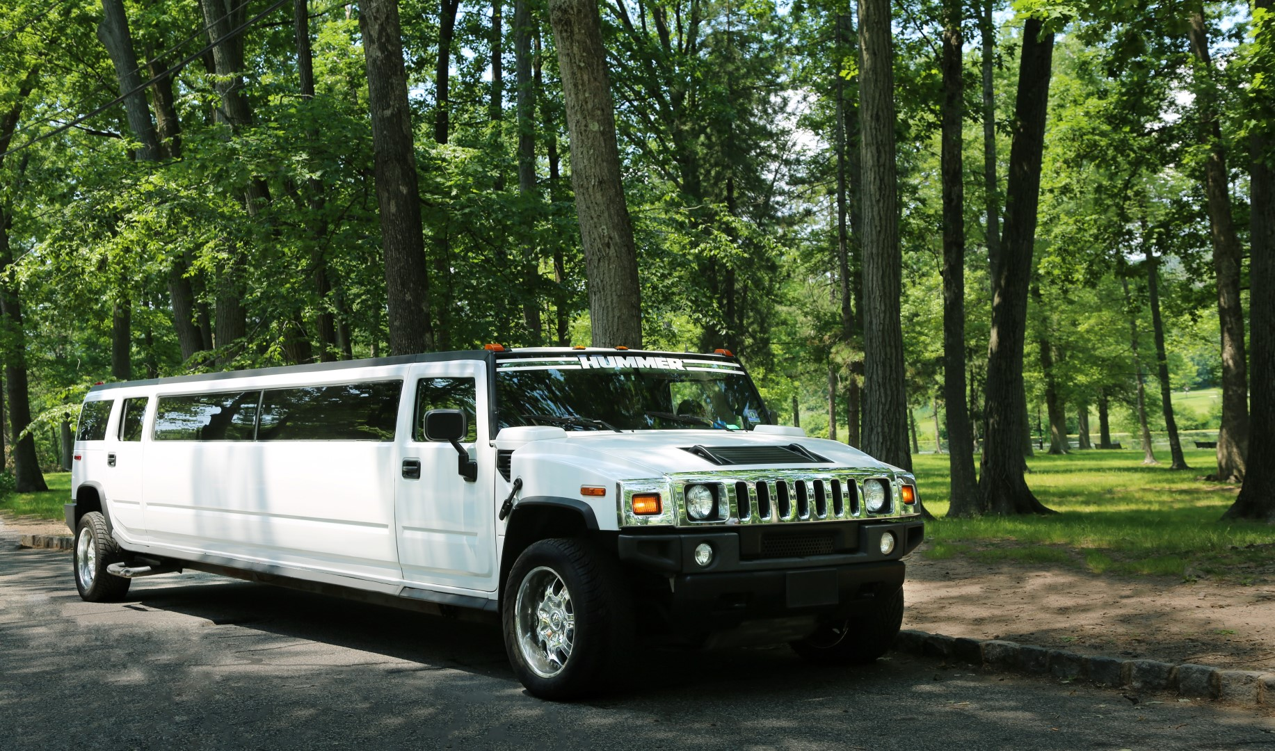 Rent White Hummer Stretch Limousines